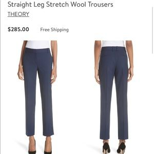 NWTs Theory Blue Straight Leg Trousers